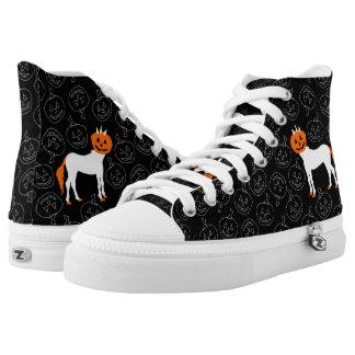 Pumpkin Unicorn shoe Printed Shoes
