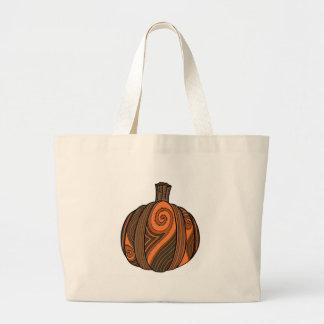 Pumpkin vegetable fall Halloween thanksgiving Jumbo Tote Bag