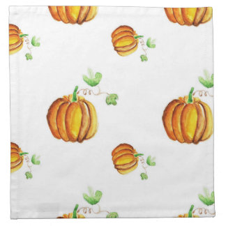 Pumpkin wattercolor pattern cloth napkin