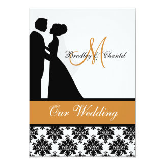 Pumpkin Wedding Couple Wedding Invitation