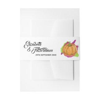 Pumpkin Wedding Invitation Band Invitation Belly Band