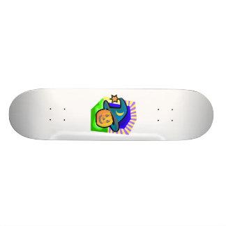 pumpkin witch skate board deck