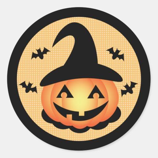 Pumpkin Witch Sticker