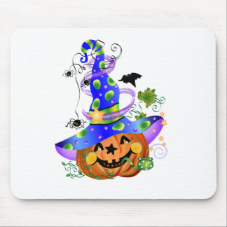 Pumpkin With Blue Hat Mouse Pad