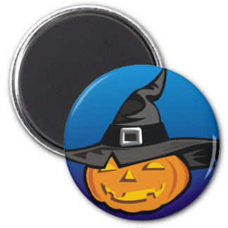 Pumpkin With Pointed Hat Refrigerator Magnet