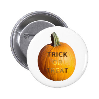 Pumpkin with Trick or Treat on it Pin