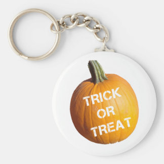 Pumpkin with Trick or Treat on it Key Chain