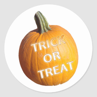 Pumpkin with Trick or Treat on it Sticker