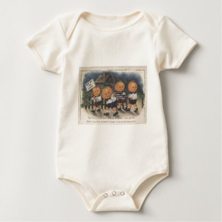 Pumpkinhead Fence Trick R Treat Pumpkin Baby Bodysuit