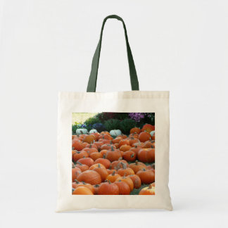 Pumpkins and Mums Autumn Harvest Photography Tote Bag