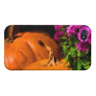 Pumpkins and Mums iPhone 4/4S Case