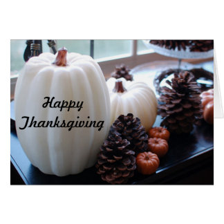 Pumpkins and Pinecones Autumn Thanksgiving Card