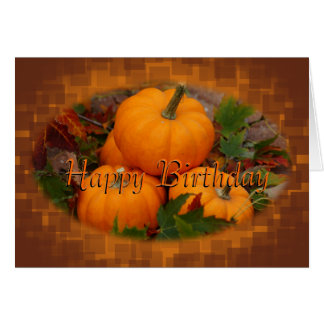 Pumpkins & Autumn Leaves- customise Card