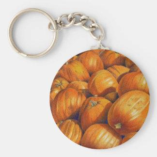 Pumpkins Basic Round Button Key Ring
