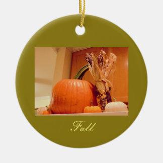 Pumpkins Ceramic Ornament