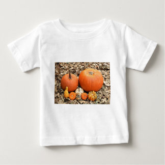 Pumpkins In Leaves Baby T-Shirt