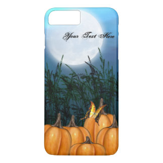 Pumpkins in the field iPhone case