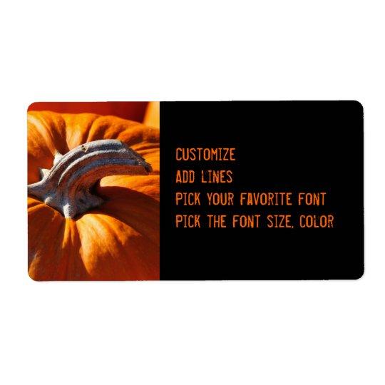 Pumpkins large label shipping label