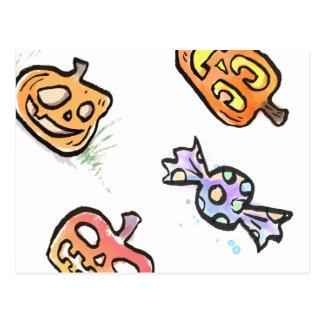 Pumpkins Love Candy Postcard {Halloween}