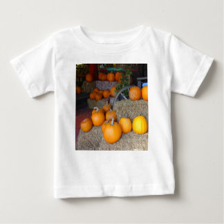 Pumpkins on Straw Baby T-Shirt