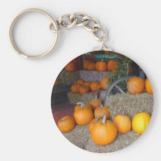 Pumpkins on Straw Key Ring