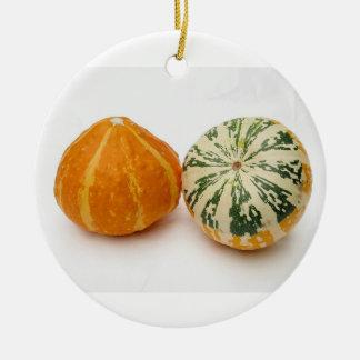 Pumpkins Round Ceramic Decoration