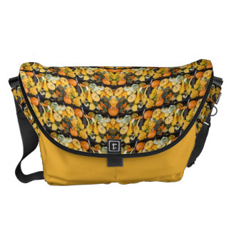 Pumpkins, Squash, and Gourds - Abstract Messenger Bags