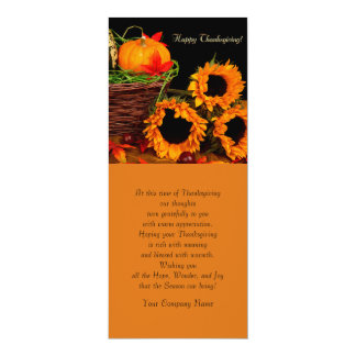 Pumpkins & Sunflowers Thanksgiving Greeting Cards 10 Cm X 24 Cm Invitation Card