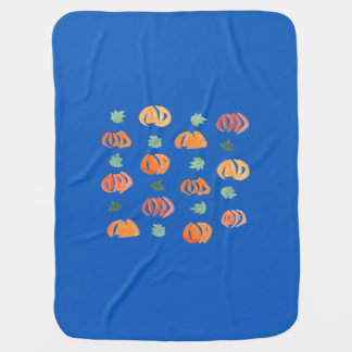 Pumpkins with Leaves Baby Blanket