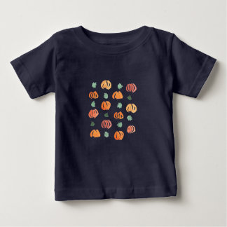 Pumpkins with Leaves Baby Lap T-Shirt