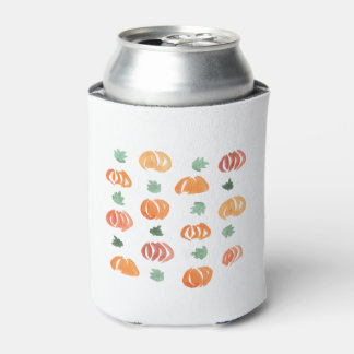Pumpkins with Leaves Can Cooler