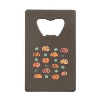 Pumpkins with Leaves Credit Card Bottle Opener
