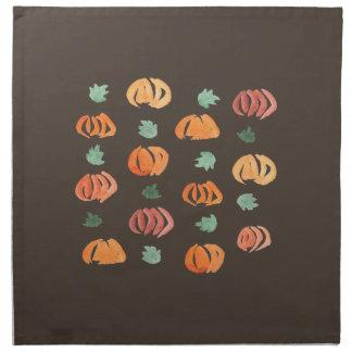 Pumpkins with Leaves Dinner Cloth Napkins