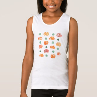 Pumpkins with Leaves Girls' Tank Top