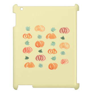 Pumpkins with Leaves Glossy iPad Case