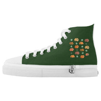 Pumpkins with Leaves High Top Shoes