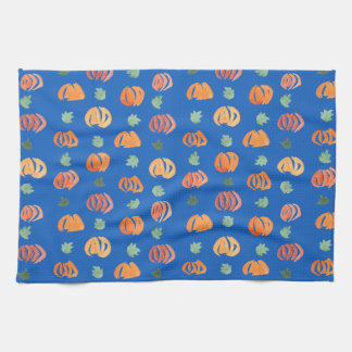 Pumpkins with Leaves Kitchen Towel