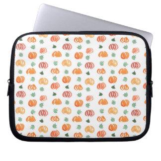 Pumpkins with Leaves Laptop Sleeve 10''