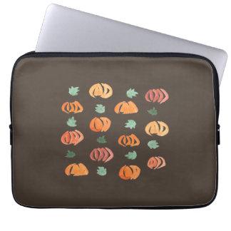 Pumpkins with Leaves Laptop Sleeve 13''
