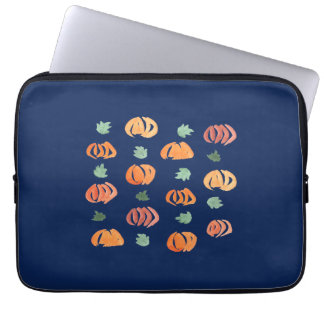 Pumpkins with Leaves Laptop Sleeve 13''