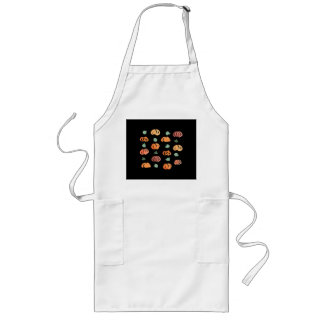 Pumpkins with Leaves Long Apron