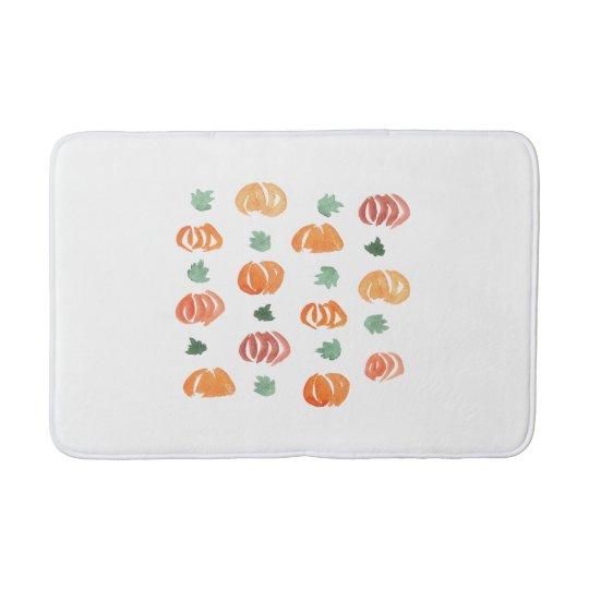 Pumpkins with Leaves Medium Bath Mat
