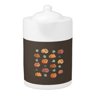 Pumpkins with Leaves Medium Teapot