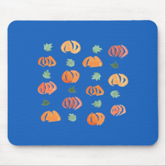 Pumpkins with Leaves Mousepad