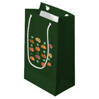 Pumpkins with Leaves Small Glossy Gift Bag