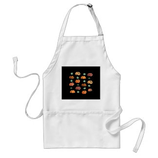 Pumpkins with Leaves Standard Apron