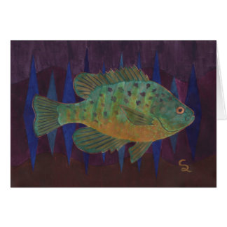 PumpkinSeed Sunfish Card