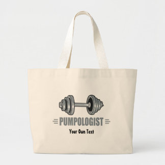 Pumpologist Pumping Iron Weightlifting Large Tote Bag