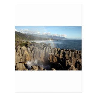 Punakaiki pancake rocks West Coast Postcard