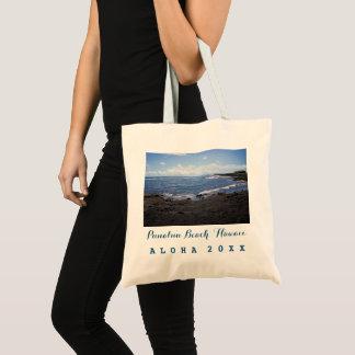 Punalu'u Beach Hawaii + Trip / Year Tote Bag